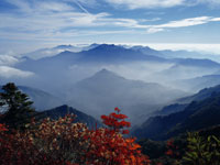石鎚山より望む瓶が森 [撮影]岩崎正朔